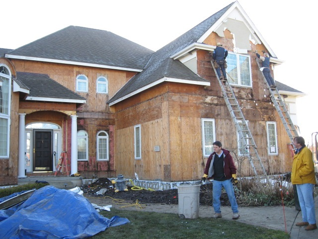 Stone siding inspections